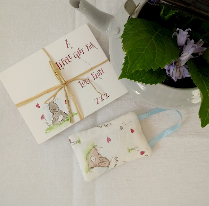 'Hello Hunny Bunny' Fabric Hanging With Personalised Gift Envelope Photo 6