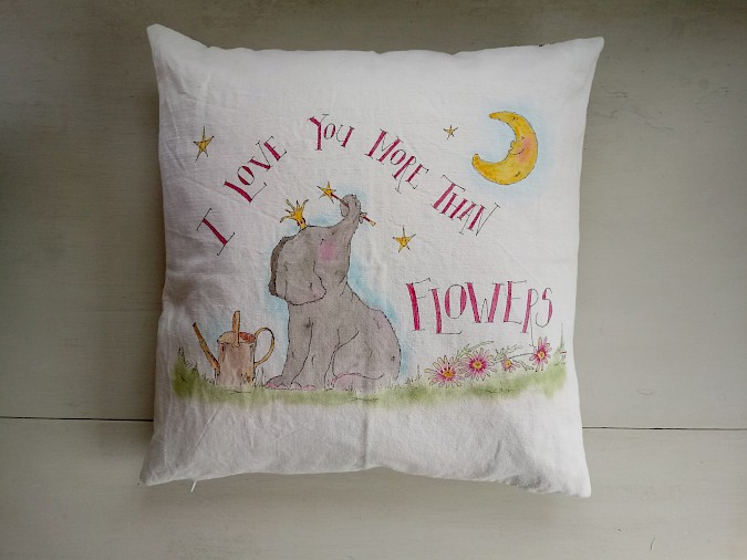 'I Love You More Than Flowers' Cushion Photo 0